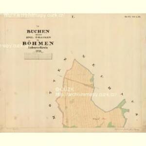 Buchen - c0649-1-001 - Kaiserpflichtexemplar der Landkarten des stabilen Katasters