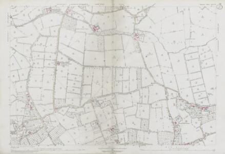 Somerset LIII.13 (includes: Baltonsborough; West Bradley; West Pennard) - 25 Inch Map