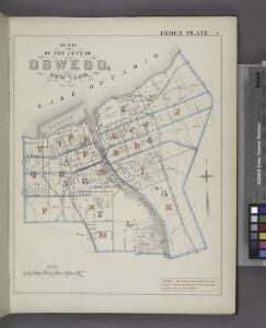 Map of the City of Oswego, New York. [Index Plate.]