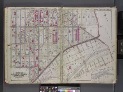 Queens, V. 2, Double Page Plate No. 6; Part of Long Island City, Ward 1; [Map bounded by Patterson Ave., Duane St., Woodside Ave., Middleburg Ave., Washington Ave., 4th Ave.] / by and under the supervision of Hugo Ullitz.