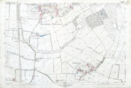 Worcestershire XLVIII.15 (includes: Bredon; Bredons Norton; Kemerton) - 25 Inch Map