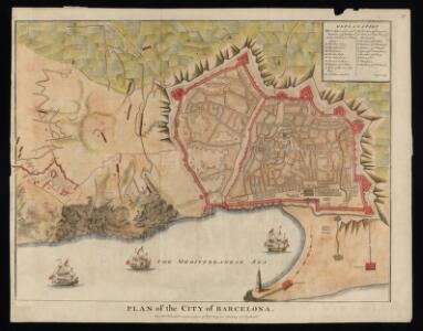 Plan of the city of Barcelona / for Mr. Tindal's continuation of Mr. Rapin's History of England ; I. Basire sculp.
