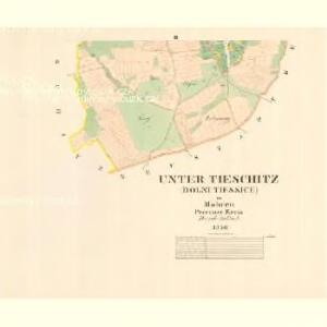 Unter Tieschitz (Dolni Tiessice) - m0534-1-002 - Kaiserpflichtexemplar der Landkarten des stabilen Katasters