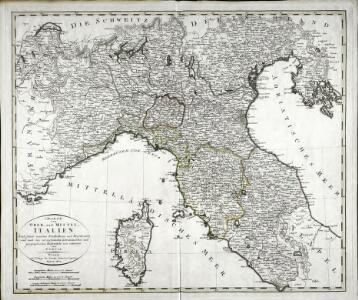 Charte von Ober- und Mittel-Italien