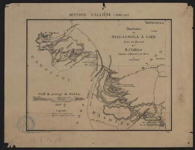Mission Galliéni 1880-1881. Itinéraire de Niagassola à Gale