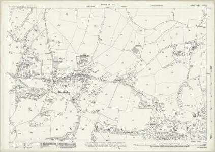 Surrey XXVII.14 (includes: Bletchingley) - 25 Inch Map
