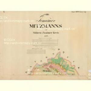 Mitzmanns - m1778-1-001 - Kaiserpflichtexemplar der Landkarten des stabilen Katasters