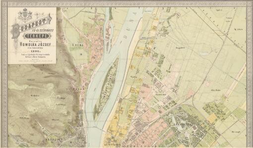 Budapest fö- és Székváros térképe