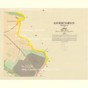 Lichtenstein (Lysstian) - c4152-1-004 - Kaiserpflichtexemplar der Landkarten des stabilen Katasters