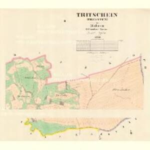 Tritschein (Tressten) - m3161-1-002 - Kaiserpflichtexemplar der Landkarten des stabilen Katasters