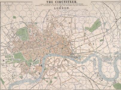 THE CIRCUITEER. A SERIES OF DISTANCE MAPS FOR ALL THE PRINCIPAL TOWNS IN THE UNITED KINGDOM. INVENTED BY J. FREDERICHS AS A GUIDE FOR ASCERTAINING CAB FARES, PORTERAGE &c. &c.