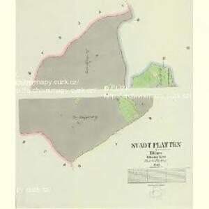 Stadt Platten - c2013-1-002 - Kaiserpflichtexemplar der Landkarten des stabilen Katasters