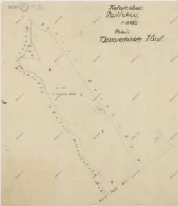Mapa panských pozemků v katastru obce Postřekov