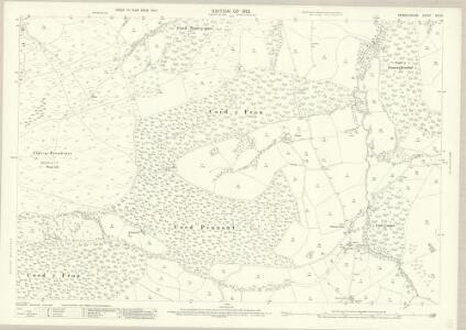 Denbighshire XIX.13 (includes: Clocaenog; Llanfwrog Rural; Y Gyffylliog) - 25 Inch Map