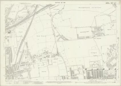 London (1915- Numbered sheets) IV.10 (includes: Acton; Hammersmith) - 25 Inch Map