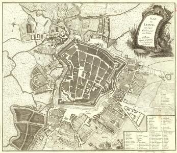 Plan de Leipzig en Saxe Celebre par ses Foires