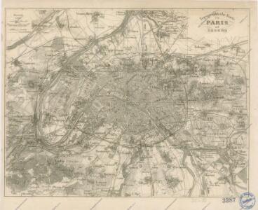Topografische Karte von Paris ung Gegend
