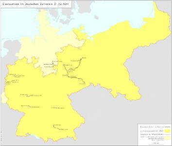 Eisenbahnen im Deutschen Zollverein 31.12.1841