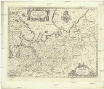 Rvssiae, vulgo Moscovia dictae, partes septentrionalis et orientalis