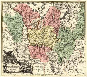 Electoratus sive Marchia Brandenburgensis, juxta novissimam Delineationem in mappa Geographica accuratae aeri incisa opera et Sumptibus