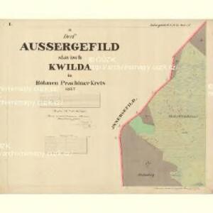 Aussergefild - c3755-1-001 - Kaiserpflichtexemplar der Landkarten des stabilen Katasters