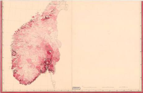 Statistikk kart 6 sør: Norvége. Densité de la population en 1865