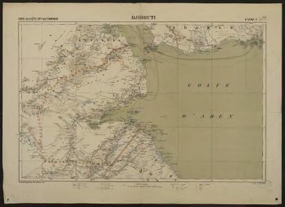 Carte de la côte française des Somalis et régions avoisinantes. Djibouti