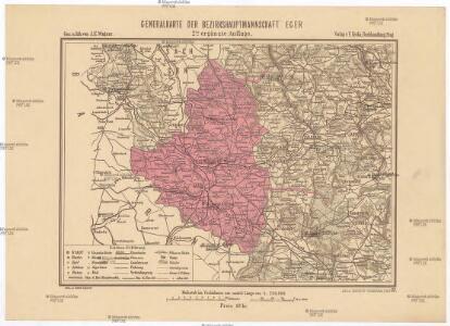 Generalkarte der Bezirkshauptmannschaft Eger