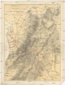 Topographical map of Hills district between Adelaide & the Bremer Ranges