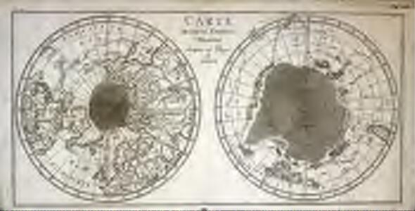 Carte des deux regions polaires