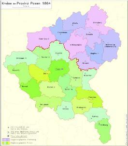 Kreise der Provinz Posen 1864