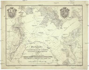 Plano topográfico del puerto y bahia de la Habana