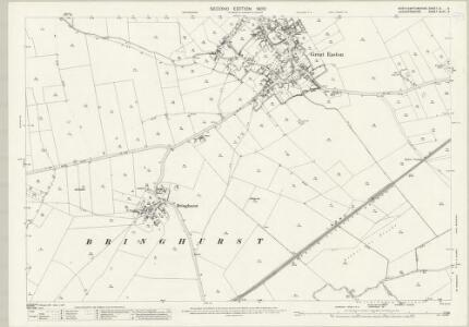 Northamptonshire XI.9 (includes: Bringhurst; Cottingham; Drayton; Great Easton; Middleton; Rockingham) - 25 Inch Map