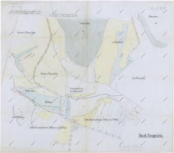 Katastrální mapa části Kdyně a Kouta