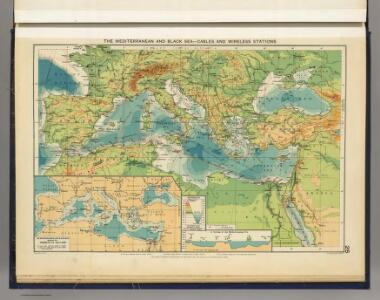 Mediterranean, Black Sea cables, wireless stations.