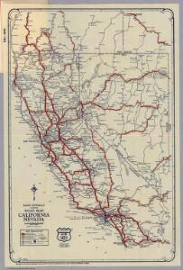 Rand McNally Junior Road Map California and Nevada.