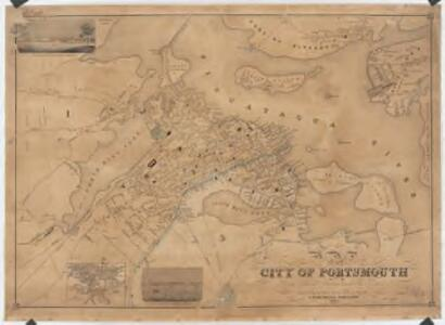 Map of the city of Portsmouth, N.H
