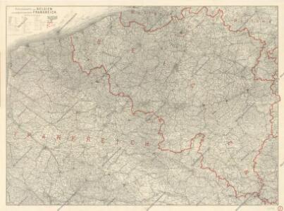 Ravensteins Deutsche Kriegskarten: Belgien und angrenzendes Frankreich von der ...