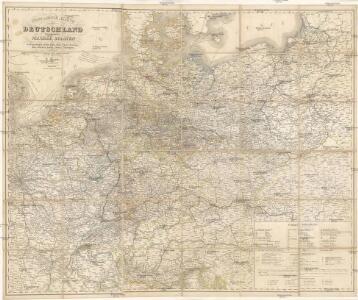 Post- & Reise-Karte von Deutschland und den nachbar Staaten