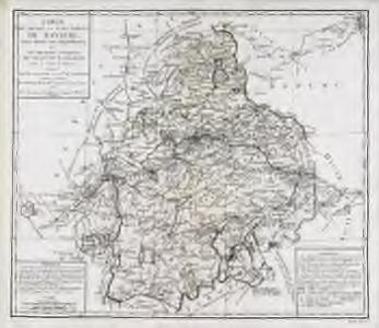 Carte du duché et electorat de Baviere