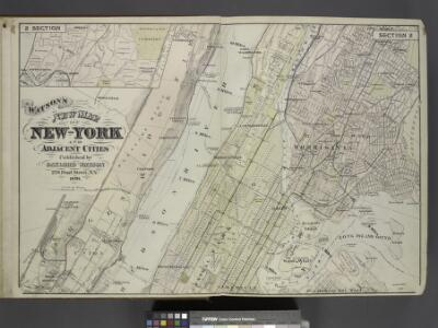Map of New York and Adjacent Cities