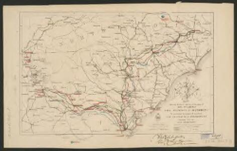 Map showing route of marches of the army of Genl. W.T. Sherman, from Atlanta, Ga. to Goldsboro, N.C. : to accompany the report of operations from Savannah, Ga. to Goldsboro, N.C