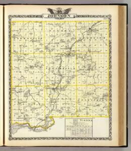 Map of Johnson County and Vienna.