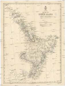 Map of the North Island, New Zealand