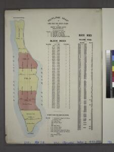 Outline map of large scale real estate atlases of New York City, Borough of Manhattan.
