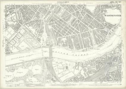 London (Edition of 1894-96) LXXXVIII (includes: Battersea; Chelsea; City Of Westminster) - 25 Inch Map