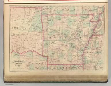 Arkansas and portion of Indian Territory.