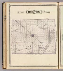 Map of Benton County.