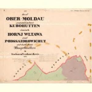 Moldau Ober - c2176-1-001 - Kaiserpflichtexemplar der Landkarten des stabilen Katasters