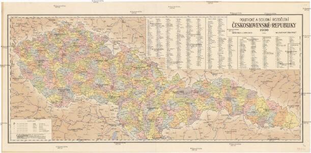 Politické a soudní rozdělení Československé republiky
